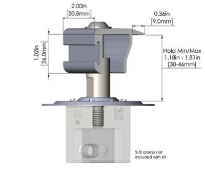 S-5! PV Kit midgrab, solar, non-penetrating system, roof