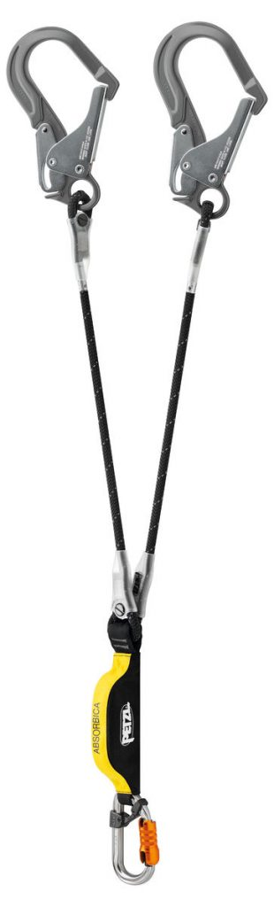 DOUBLE LANYARD WITH INTEGRATED ENERGY ABSORBER