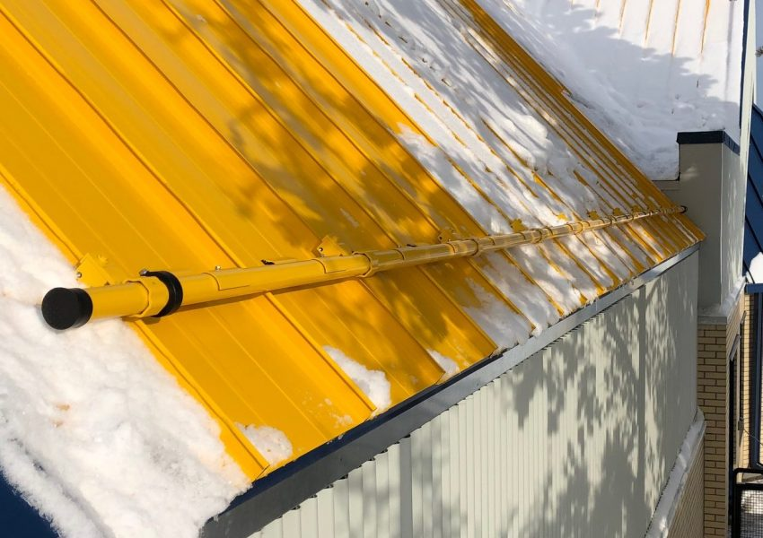 X-Gard 1.0 the strongest pipe snow retention system for standing seam metal roof that can be powder coated to match your roof