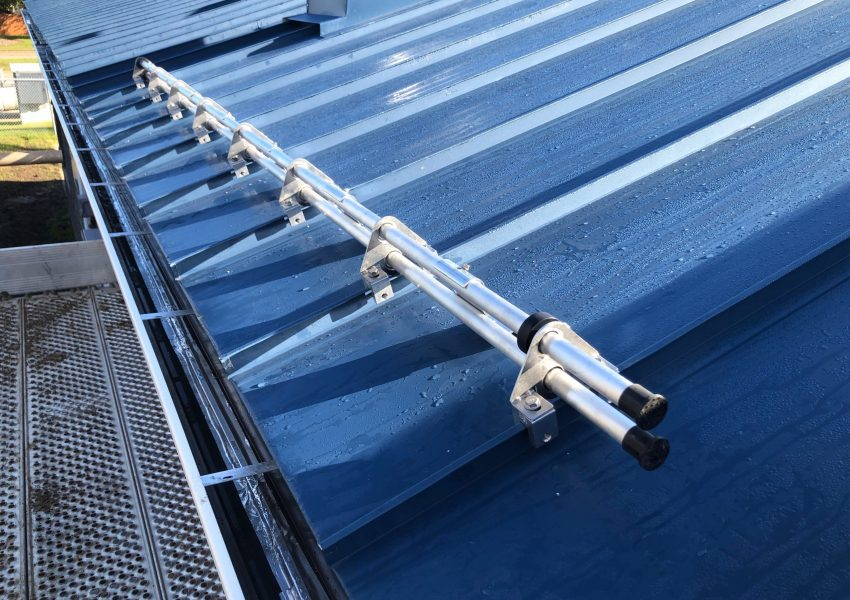 DualGuard tube snow retention system for standing seam metal roof that can be powder coated to match your roof