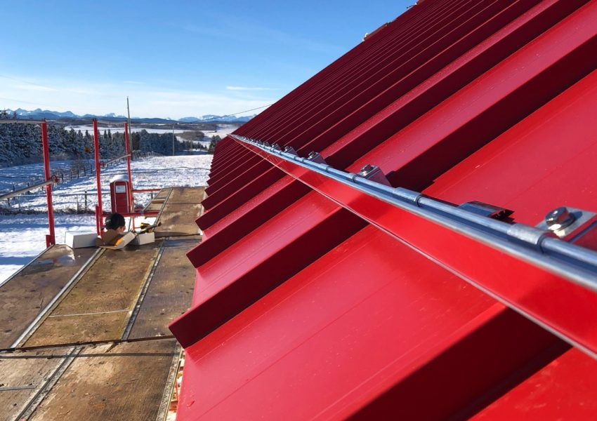 ColorGard snow retention system for standing seam metal roof that match your roof