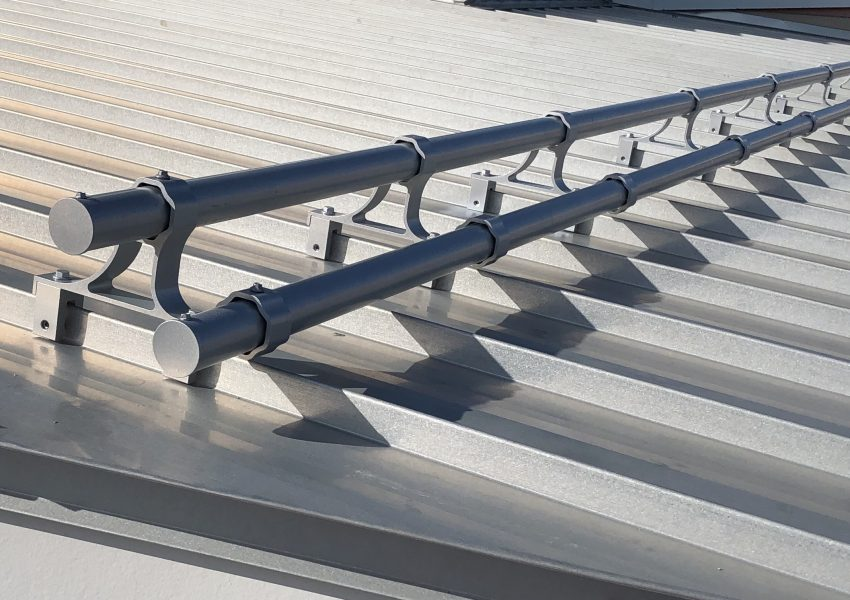 X-Gard 2.0 the strongest pipe snow retention system for standing seam metal roof that can be powder coated to match your roof